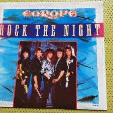 """Discos de vinilo: EUROPE -ROCK THE NIGHT- (1986) MAXI-SINGLE 12"""". Lote 205660470"""