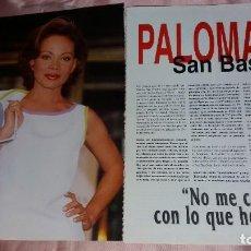 Discos de vinilo: PALOMA SAN BASILIO - 4 PAGINAS SPANISH CLIPPINGS - VER FOTOS. Lote 205672908