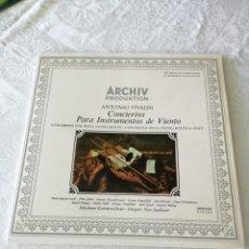Discos de vinilo: ANTONIO VIVALDI. CONCIERTOS PARA INSTRUMENTOS DE VIENTO. EMI LA VOZ DE SU AMO. LP.. Lote 205686847