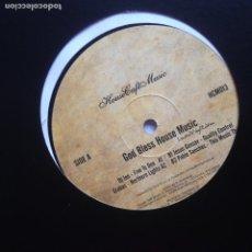 Discos de vinilo: HOUSE CAFE MUSIC - GOD BLESS MUSIC - DJ INO - GROBAS - JESUS GONSEY - PABLO SANCHEZ. Lote 205690336