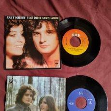 Discos de vinilo: ANA Y JOHNNY 2 SINGLES. Lote 205696301