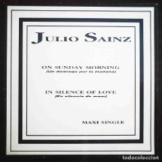 Discos de vinilo: JULIO SAINZ - ON SUNDAY MORNING / IN SILENCE OF LOVE - DISCOS DE POESÍA NEGRA. Lote 205696891