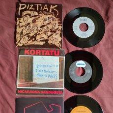 Discos de vinilo: LAVABOS ITURRIAGA/ KORTATU/ PIZTIAK /NUEVOS A ESTRENAR. Lote 205697146