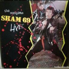 Discos de vinilo: SHAM 69  THE COMPLETE SHAM 69 LIVE LP DIRECTO FINALES 70'S MUY BUEN SONIDO - PUNK OI!. Lote 205698755