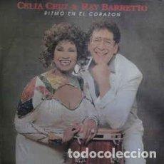 Discos de vinilo: CELIA CRUZ Y RAY BARRETTO – RITMO EN EL CORAZON. Lote 205699298