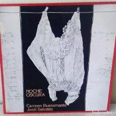 Discos de vinilo: CARMEN BUSTAMANTE, JORDI SABATES - NOCHE OSCURA PDI - 1985. Lote 205701895