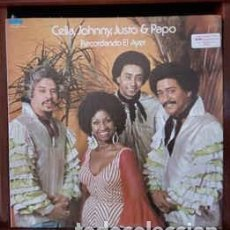 Discos de vinilo: CELIA, JOHNNY, JUSTO & PAPO – RECORDANDO EL AYER. Lote 205702205