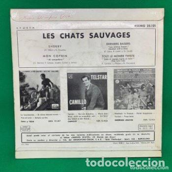 Discos de vinilo: LES CHATS SAUVAGES - SINGLE VG++ - Foto 3 - 205705202