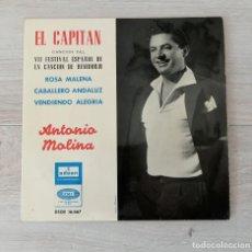 Discos de vinilo: ANTONIO MOLINA, ACOMPAÑADO DE ORQUESTA. Lote 205730418