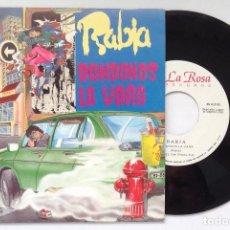 Discos de vinilo: RABIA SINGLE VINILO DANDONOS LA VARA LA ROSA RECORDS ROCK VASCO CON HOJA PROMO. Lote 205732192