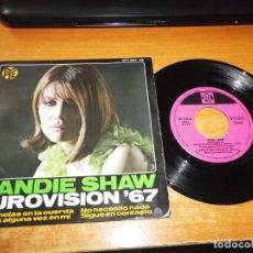 Discos de vinilo: SANDIE SHAW MARIONETAS EN LA CUERDA EUROVISION INGLATERRA 1967 EP VINILO 1967 ESPAÑA 4 TEMAS. Lote 205735127
