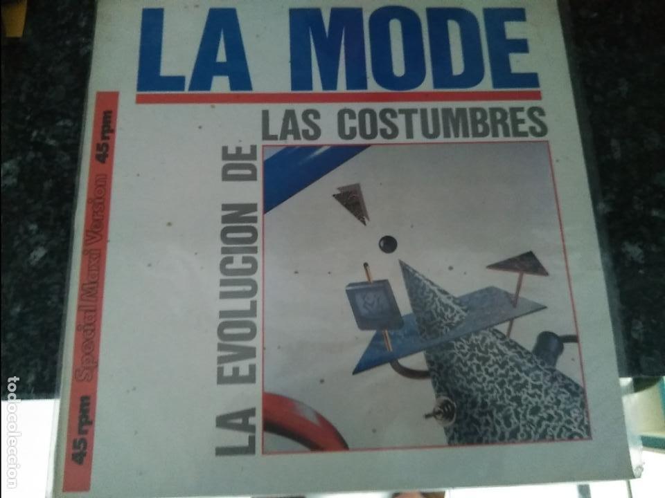 MAXI SINGLE LA MODE -LA EVOLUCION DE LAS COSTUMBRES. MERCURY 1985. BUEN ESTADO (Música - Discos de Vinilo - Maxi Singles - Grupos Españoles de los 70 y 80)
