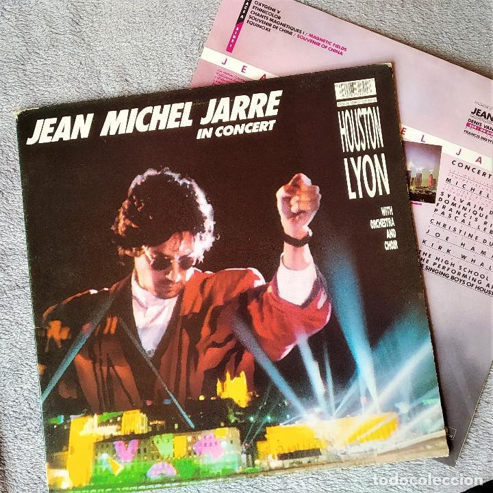 LP JEAN MICHEL JARRE - IN CONCERT, HOSTON/LYON, ESPAÑA 1987, GATEFOLD, INSERTO, (VG++_VG++) (Música - Discos - LP Vinilo - Electrónica, Avantgarde y Experimental)