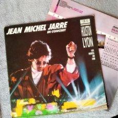 Discos de vinilo: LP JEAN MICHEL JARRE - IN CONCERT, HOSTON/LYON, ESPAÑA 1987, GATEFOLD, INSERTO, (VG++_VG++). Lote 205737257