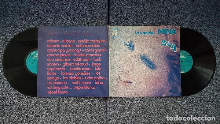 Discos de vinilo: Mina - La voz de...Mina. Editado por Emi. añom 1.976. Doble albun (2 discos) con lo mejor de Mina - Foto 3 - 205742953