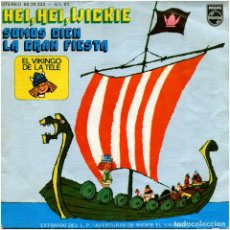 Discos de vinilo: VICKIE EL VIKINGO – HEI, HEI, WICKIE - SG SPAIN 1975 - PHILIPS 60 29 333. Lote 205746388