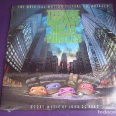 Discos de vinilo: LAS TORTUGAS NINJA - TEENAGE MUTANT NINJA TURTLES LP HISPAVOX 1990 PRECINTADO - BSO CINE HIP HOP. Lote 205755896