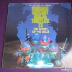 Discos de vinilo: LAS TORTUGAS NINJA II - THE SECRET OF THE OOZE - LP HISPAVOX 1991 PRECINTADO - BSO CINE HIP HOP. Lote 205755932