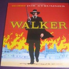 Discos de vinilo: JOE STRUMMER (THE CLASH) WALKER LP VIRGIN 1987 - BSO CINE - COUNTRY ROCK 80'S - SIN ESTRENAR. Lote 205756343