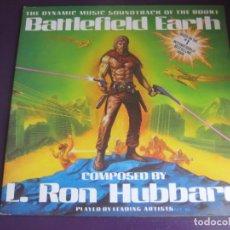 Discos de vinilo: L. RON HUBBARD – BATTLEFIELD EARTH LP NEW ERA RECORDDS 1984 - BSO - SYNTH POP ELECTRONICA ESPACIAL. Lote 205756423