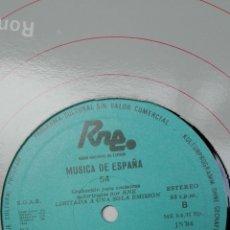 Discos de vinilo: MÚSICA DE ESPAÑA TRANSCRIPCIONES DE RNE. VOLUMEN 54.. Lote 205757975