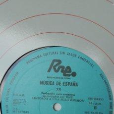 Discos de vinilo: LP TRANSCRIPCIONES RNE, VOLUMEN 78. LA CANCIÓN DE CONCIERTO.PARTE 2. Lote 205758058