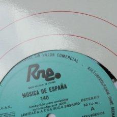 Discos de vinilo: LP TRANSCRIPCIONES RNE. VOLUMEN 140. LA MÚSICA EN LA ÉPOCA DE CARLOS III.. Lote 205758246