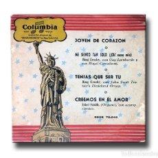 Discos de vinilo: BING CROSBY - JOVEN DE CORAZON. Lote 205764821