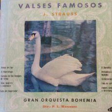 Discos de vinilo: VALSES FAMOSOS. J.STRAUSS. GRAN ORQUESTA BOHEMIA.. Lote 205765440