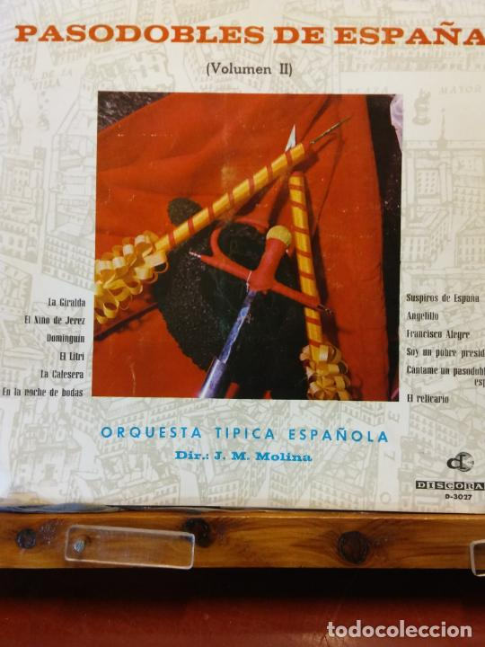 PASODOBLES DE ESPAÑA. J.M.MOLINA. ORQUESTA TIPICA ESPAÑOLA. SUSPIROS DE ESPAÑA. (Música - Discos - LP Vinilo - Otros estilos)