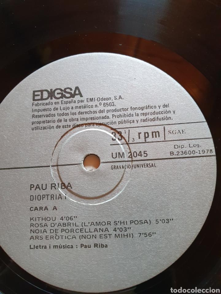 Discos de vinilo: Pau riba, acompanyat per om - dioptria, edigsa um 2045/6, 1978. Rock, folk, nova canço. - Foto 4 - 205772532