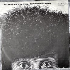 Discos de vinilo: MICK FARREN - HALF PRICE DRINKS. SINGLE, EDICIÓN ESPAÑOLA 1979.. Lote 205776736