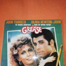 Discos de vinilo: GREASE. ORIGINAL MOVIE SOUNDTRACK. DOBLE LP. RSO RECORDS 1978. CON ENCARTES.. Lote 205777155
