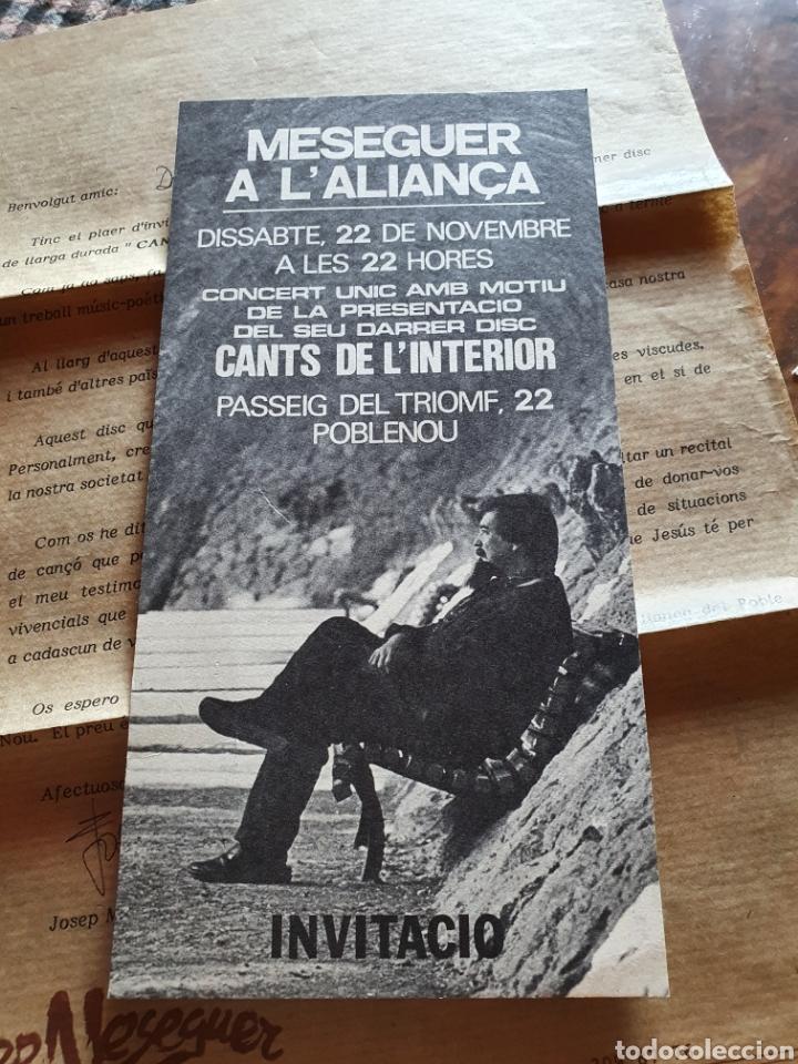 Discos de vinilo: Josep meseguer, cants de la interior, 1986 - Foto 9 - 205780433
