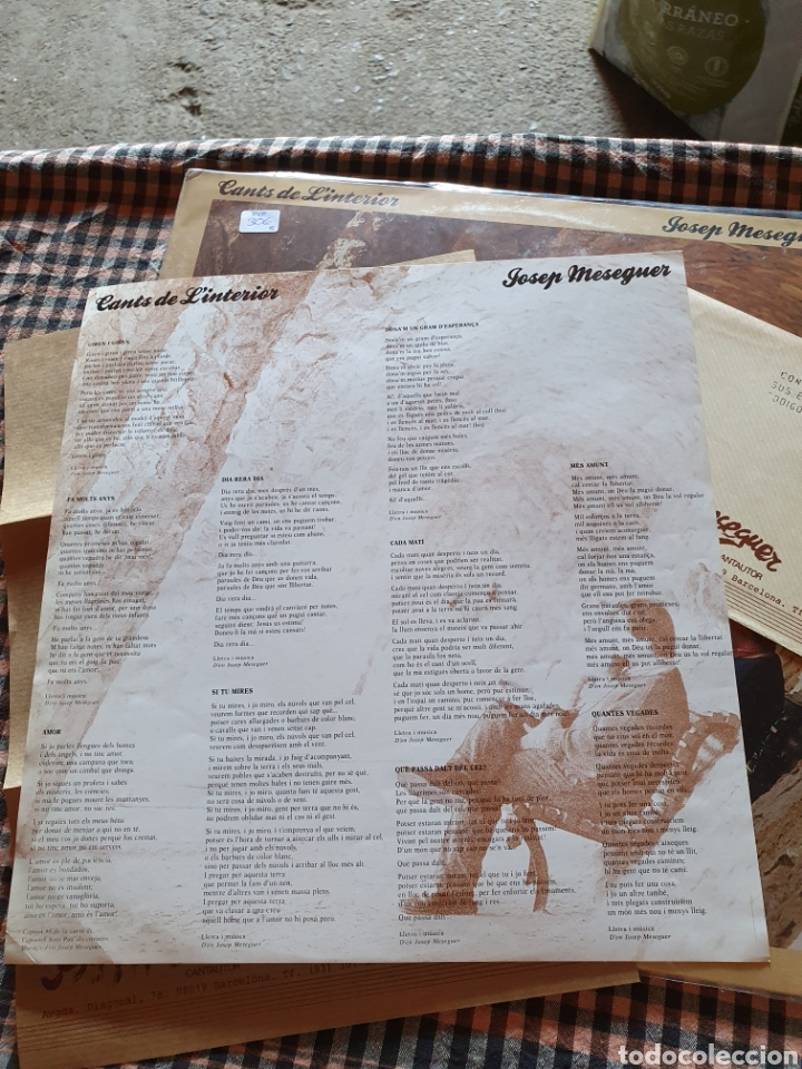 Discos de vinilo: Josep meseguer, cants de la interior, 1986 - Foto 10 - 205780433