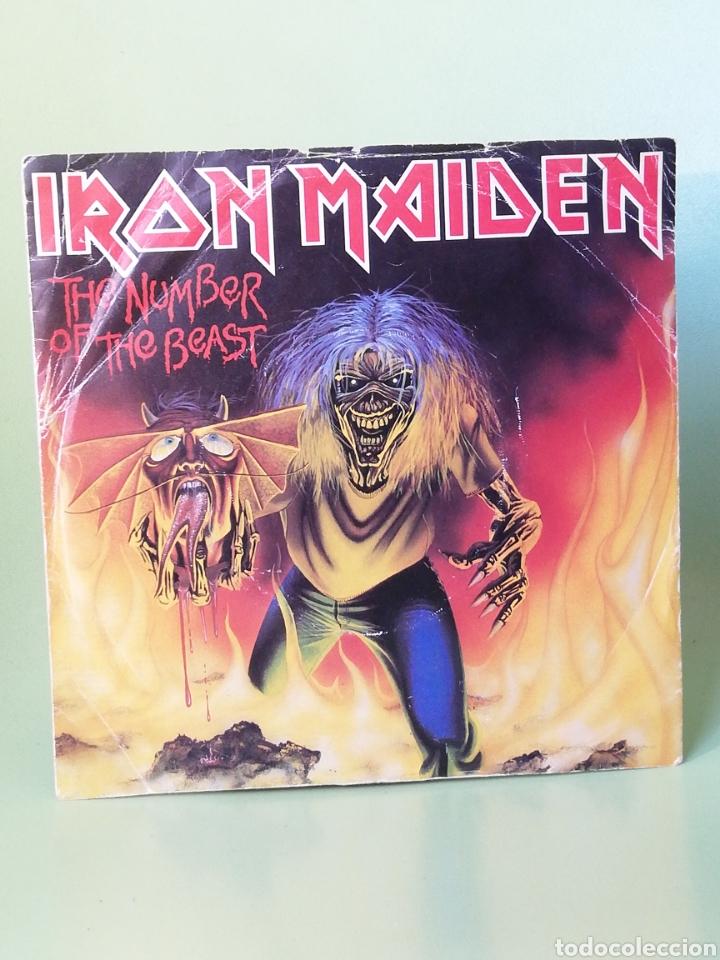 IRON MAIDEN THE NUMBER OF THE BEAST SINGLE EDICIÓN INGLESA EMI 1982 (Música - Discos - Singles Vinilo - Heavy - Metal)