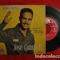 """Discos de vinilo: 7"""" JOSE GUARDIOLA COME PRIMA +3 - EP - 1958 - REGAL SEBL 7080 (VG++-/EX-). Lote 205785286"""