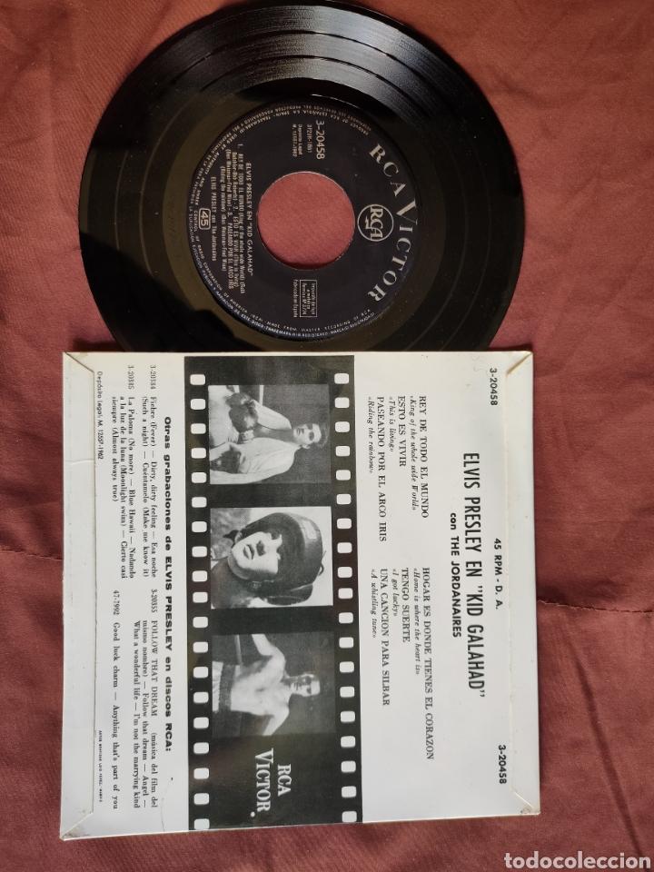Discos de vinilo: ELVIS PRESLEY EP PELÍCULA KID GALAHAD/ESPAÑA 1962 - Foto 2 - 205786063