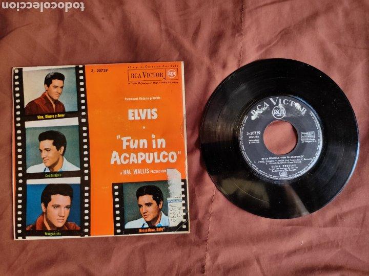 ELVIS PRESLEY PELÍCULA FUN IN ACAPULCO 1964 ESPAÑOL (Música - Discos de Vinilo - EPs - Rock & Roll)