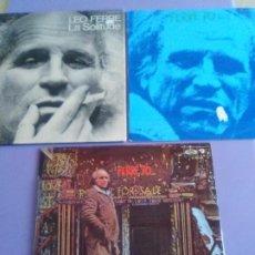 Discos de vinilo: LOTE TRES LPS ORIGINALES LEO FERRE. FERRE 70. LEO FERRE FERRE 70 VOL. 2 LP 1971 Y LA SOLITUDE ZOO.. Lote 205789907
