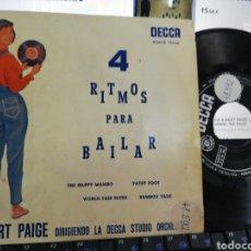 Discos de vinilo: BERT PAIGE EP 4 RITMOS PARA BAILAR ESPAÑA 1959. Lote 205793480