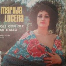 Discos de vinilo: MARUJA LUCENA SINGLE SELLO BELTER AÑO 1974. Lote 205796697