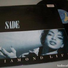 Discos de vinilo: SADE - DIAMOND LIFE ..LP ORIGINAL DE 1984 - EDICION ..U.K - PORTADA ABIERTA - EPIC. Lote 205798960