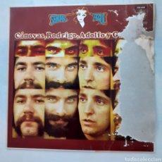 Discos de vinilo: CANOVAS, RODRIGO, ADOLFO Y GUZMÁN. SEÑORA AZUL. FUNDA DETERIORADA POR HUMEDAD. 1983. DISCO VG++. Lote 205799663