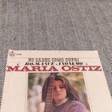 Discos de vinilo: SINGLE MARÍA ORTIZ. Lote 205817213