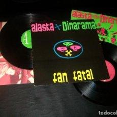 Discos de vinilo: ALASKA Y DINARAMA - FAN FATAL. ..1ª EDICION DE 1989 . .076-79 2122 - 1 ..INCLUYE EL MAXI ESPECIAL. Lote 205825003