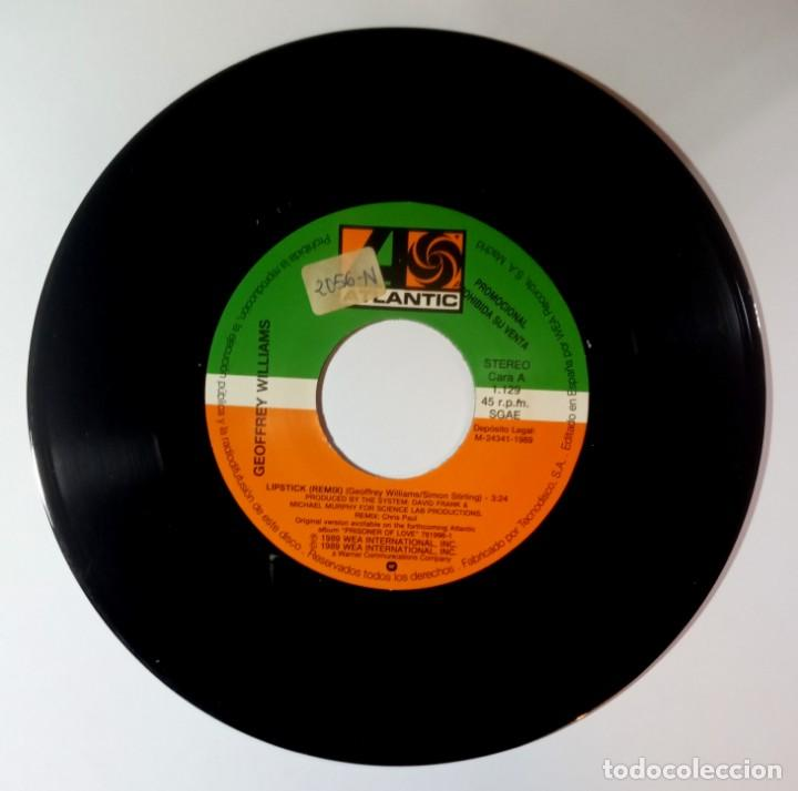 Discos de vinilo: GEOFFREY WILLIAMS - lipstick remix - SINGLE PROMO 1989 - ATLANTIC - Foto 3 - 205826977