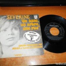 Discos de vinilo: SEVERINE UN BANC, UN ARBRE, UNE RUE EUROVISION MONACO 1971 SINGLE VINILO 1971 ESPAÑA 2 TEMAS. Lote 205828266