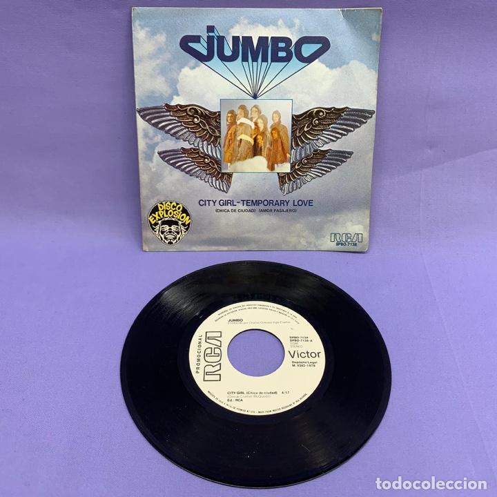 Discos de vinilo: SINGLE JUMBO CITY GIRL - TEMPORARY LOVE - Foto 2 - 205829013
