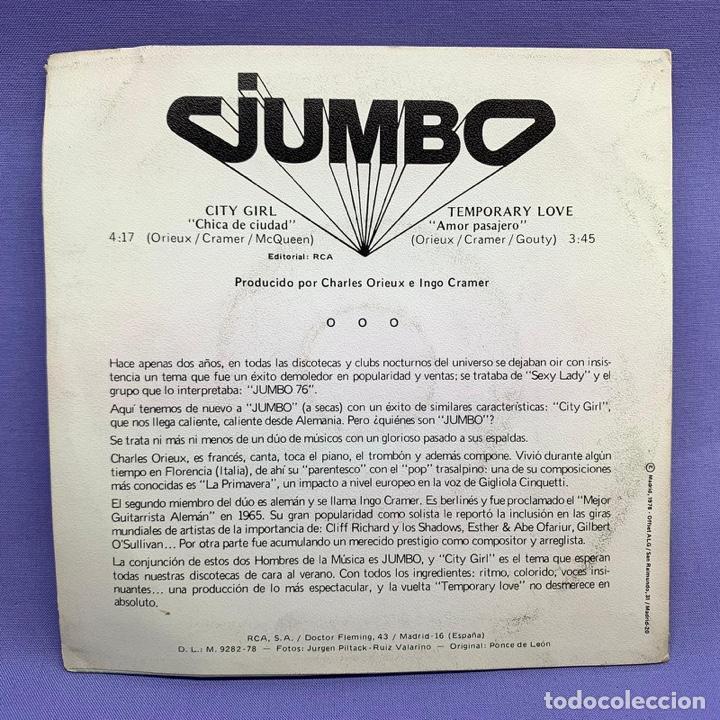 Discos de vinilo: SINGLE JUMBO CITY GIRL - TEMPORARY LOVE - Foto 3 - 205829013